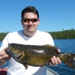 Riley Mauceri with a trophy Smallmouth Bass from Cedarbough Lake
